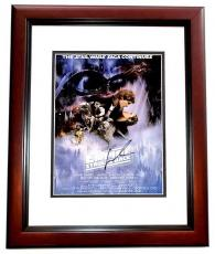 George Lucas Signed - Autographed Star Wars The Empire Strikes Back Director 11x17 inch Photo MAHOGANY CUSTOM FRAME - Guaranteed to pass PSA or JSA
