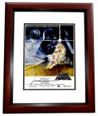 George Lucas Signed - Autographed Star Wars Director 11x17 inch Photo MAHOGANY CUSTOM FRAME - Guaranteed to pass PSA or JSA