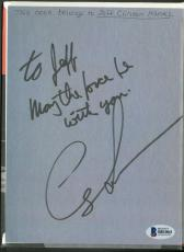 George Lucas Signed Autographed Star Wars ROTJ Book w/ May The Force Beckett BAS