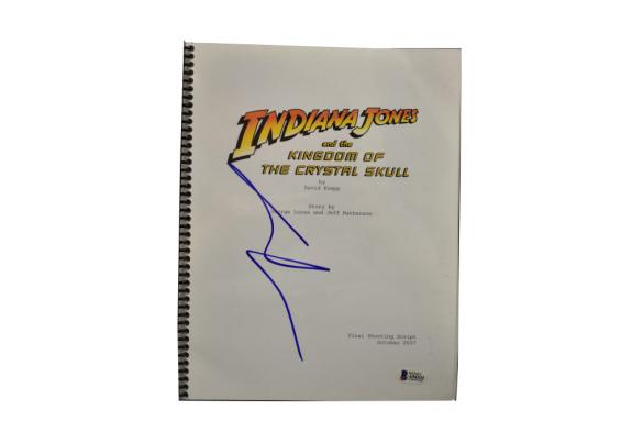 George Lucas Signed  Indiana Jones And The Kingdom Of The Crystal Skull Beckett