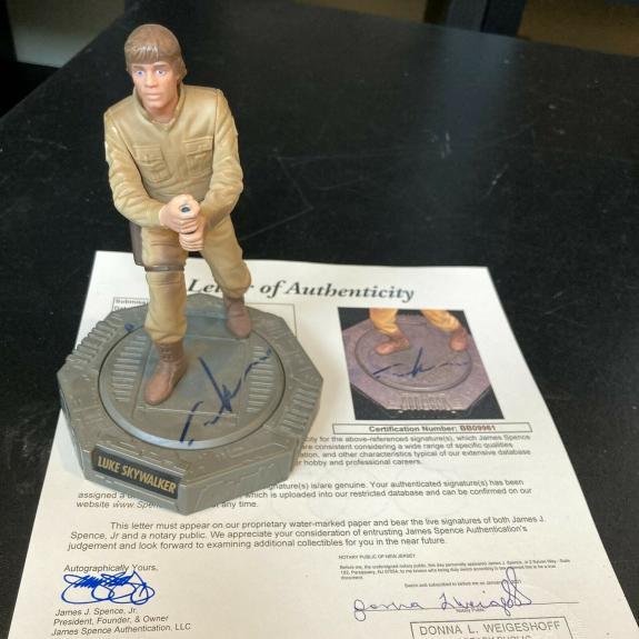 George Lucas Signed Luke Skywalker Star Wars Action Figure WIth JSA COA