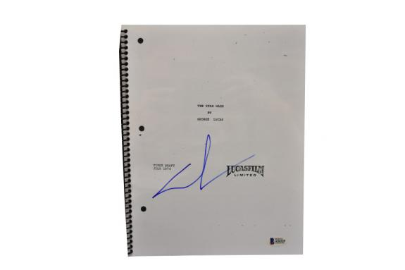 George Lucas Signed Signed Star Wars A New Hope Full Script Autograph Beckett C