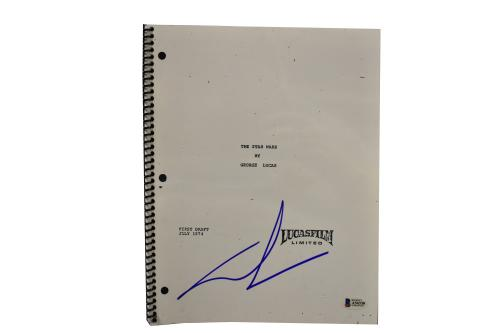 George Lucas Signed Signed Star Wars A New Hope Full Script Autograph Beckett D