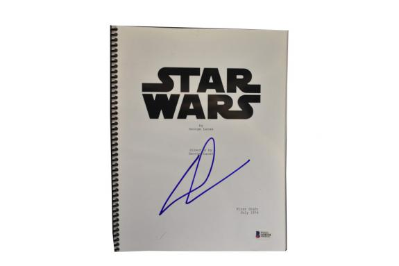 George Lucas Signed Signed Star Wars A New Hope Full Script Autograph Beckett E