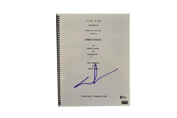 George Lucas Signed Signed Star Wars Return Of The Jedi Script Beckett Loa C