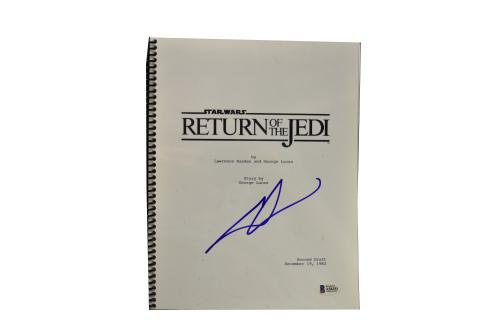 George Lucas Signed Signed Star Wars Return Of The Jedi Script Beckett Loa D