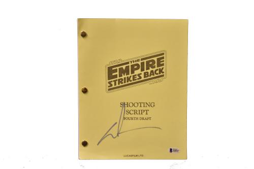 George Lucas Signed Signed Star Wars The Empire Strikes Back Autograph Beckett A