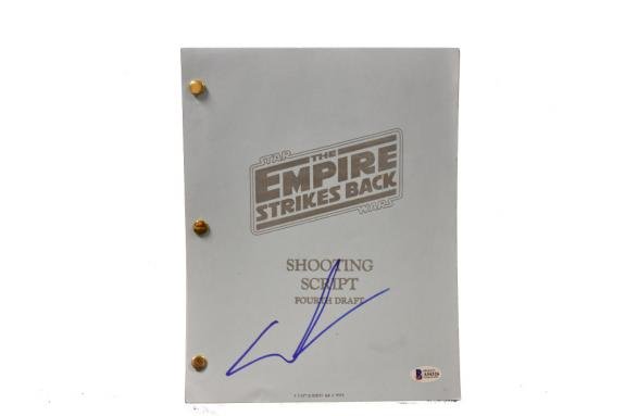 George Lucas Signed Signed Star Wars The Empire Strikes Back Script Beckett C