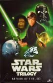 George Lucas Signed Star Wars Trilogy 27X40 Poster AFTAL UACC RD COA PSA LOA