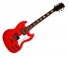 George Lucas Star Wars Autographed Guitar Uacc Rd AFTAL