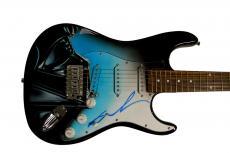 George Lucas Star Wars Darth Vader Signed Airbrushed Guitar Preorder AFTAL