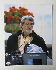 George Lucas Star Wars Director Signed Autographed 11x14 Photo PSA/DNA #J03452
