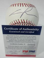 George Lucas Star Wars Legend Psa/dna Coa Signed Autographed M.l Baseball Rare B