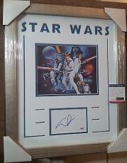 George Lucas Star Wars Psa/dna Coa Signed 8x10 Photo Double Matted Framed A
