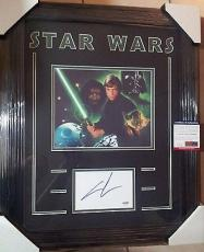 George Lucas Star Wars Psa/dna Coa Signed 8x10 Photo Double Matted Framed B