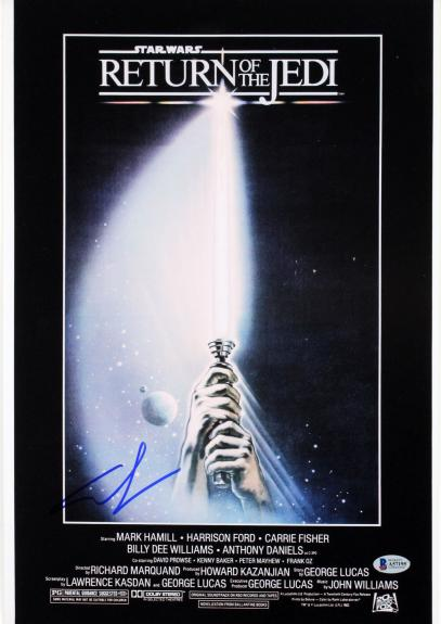 George Lucas Star Wars Return of the Jedi Signed 12x18 Photo BAS #A57195