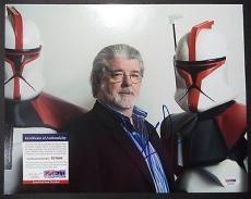 George Lucas Star Wars Signed Autographed 11x14 Photo W/coa Psa/dna Coa B Rare