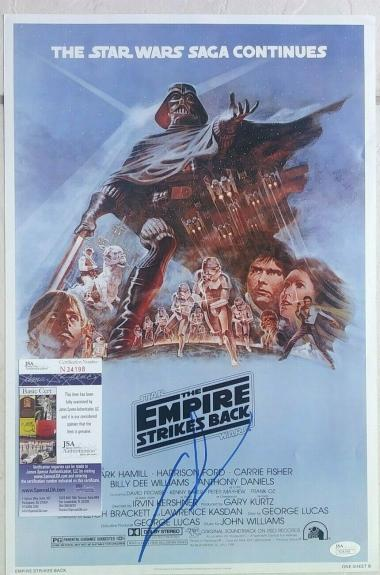 George Lucas Star Wars Signed Autographed 12x18 Poster Photo Jsa Coa #n34198