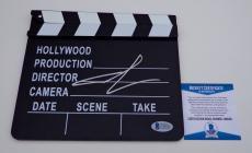 George Lucas Star Wars Signed Movie Clapboard Beckett Bas Coa C89036