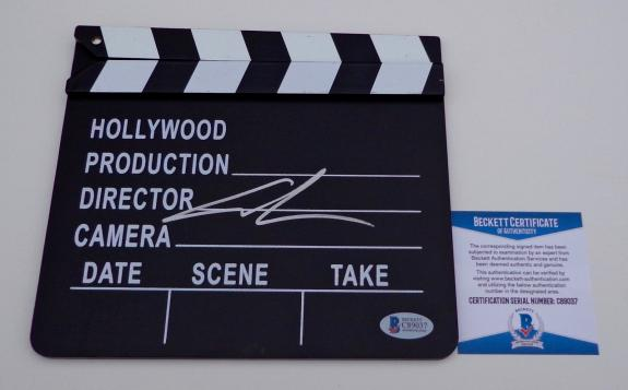 George Lucas Star Wars Signed Movie Clapboard Beckett Bas Coa C89037