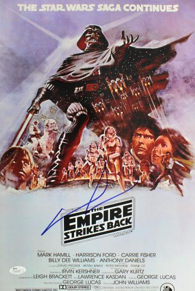 George Lucas Star Wars The Empire Strikes Back Signed 12x18 Photo JSA #N34205