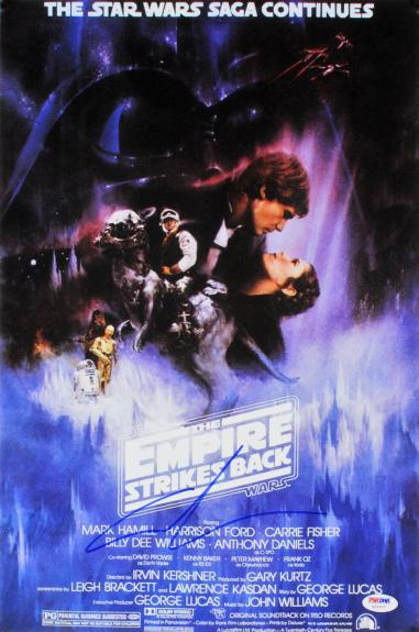 George Lucas Star Wars The Empire Strikes Back Signed 12x18 Photo PSA #Y21077