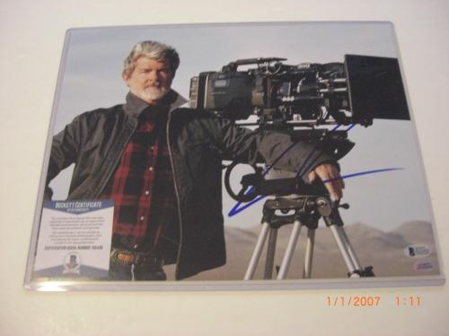George Lucas Star Wars,empire Strikes Back #2 Beckett/coa Signed 11x14 Photo