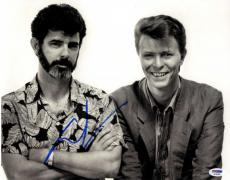 George Lucas w David Bowie Autographed Signed Star Wars 11x14 Poster Photo PSA