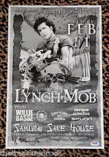 Signed George Lynch Photo - Mob concert poster DOKKEN PSA DNA COA ROCK