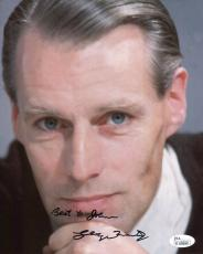 George Martin Autographed Picture - 8x10 COLOR RARE THE BEATLES TO JOHN JSA