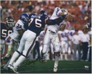 "George Martin New York Giants Autographed 16"" x 20"" Super Bowl XXI Elway Hit Photograph"