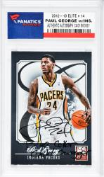 Paul George Indiana Pacers Autographed 2012-13 Elite #14 Card with Blue Collar Gold Swagger Inscription - Mounted Memories  - Mounted Memories