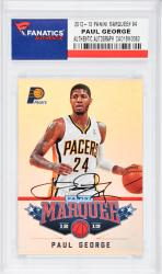 Paul George Indiana Pacers Autographed 2012-13 Marquee #94 Card  - Mounted Memories  - Mounted Memories