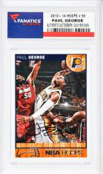 Paul George Indiana Pacers Autographed 2013-14 Hoops #59 Card  - Mounted Memories  - Mounted Memories