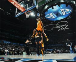 """Paul George Indiana Pacers Autographed 16"""" x 20"""" Dunk Contest Photograph"""