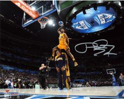 """Paul George Indiana Pacers Autographed 8"""" x 10"""" Dunk Contest Photograph"""