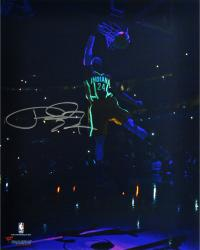 """Paul George Indiana Pacers Autographed 16"""" x 20"""" Glow in the Dark Photograph"""