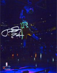 Paul George Indiana Pacers Autographed 8'' x 10'' Glow in the Dark Photograph - Mounted Memories