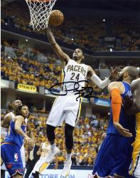 "Paul George Indiana Pacers Autographed 8"" x 10"" Layup Photograph"