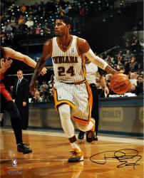 "Paul George Indiana Pacers Autographed 16"" x 20"" Throwback Photograph"