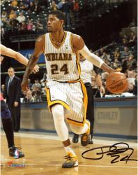 """Paul George Indiana Pacers Autographed 8"""" x 10"""" Throwback Photograph"""