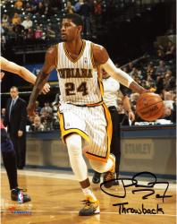 """Paul George Indiana Pacers Autographed 8"""" x 10"""" Throwback Photograph with Throwback Inscription"""