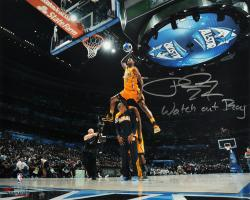 """Paul George Indiana Pacers Autographed 16"""" x 20"""" Dunk Contest Photograph with Watch Out Roy Inscription"""