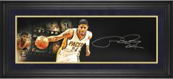 """Paul George Indianapolis Pacers Framed Autographed 10"""" x 30"""" Film Strip Photograph-Limited Edition of 24"""