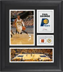"Paul George Indiana Pacers Framed 15"" x 17"" Collage with Team-Used Ball"