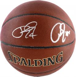 Paul George & Roy Hibbert Indiana Pacers Dual Autographed Spalding Indoor Outdoor Basketball - Mounted Memories  - Mounted Memories
