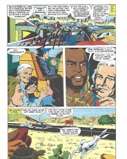 """GEORGE PEPPARD as JOHN 'HANNIBAL' SMITH in """"THE A TEAM"""" Signed 7.5x10.5 COMIC SHEET"""