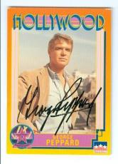 George Peppard autographed trading Card (Breakfast at Tiffanys A Team) 1991 Starline Hollywood Walk of Fame #91