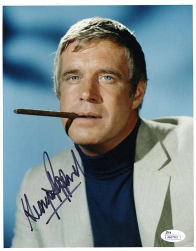 GEORGE PEPPARD JSA Coa Autograph 8x10 Photo Hand Signed Authentic