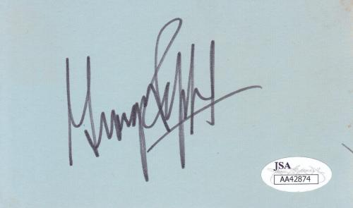GEORGE PEPPARD Signed 3x5 Index Card Actor/The A-Team JSA AA42874